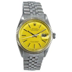 Rolex Stainless Steel Oyster Perpetual Datejust Custom Color Dial, Dated 1969