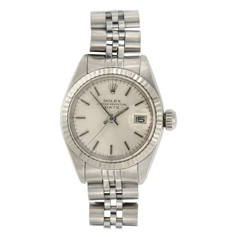 Rolex Stainless Steel Oyster Perpetual DateJust Jubilee Ladies Watch Ref# 6917 For Sale