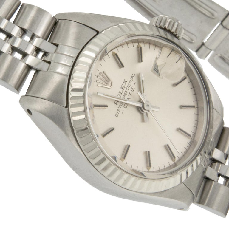Women's Rolex Stainless Steel Oyster Perpetual DateJust Jubilee Ladies Watch Ref# 6917 For Sale