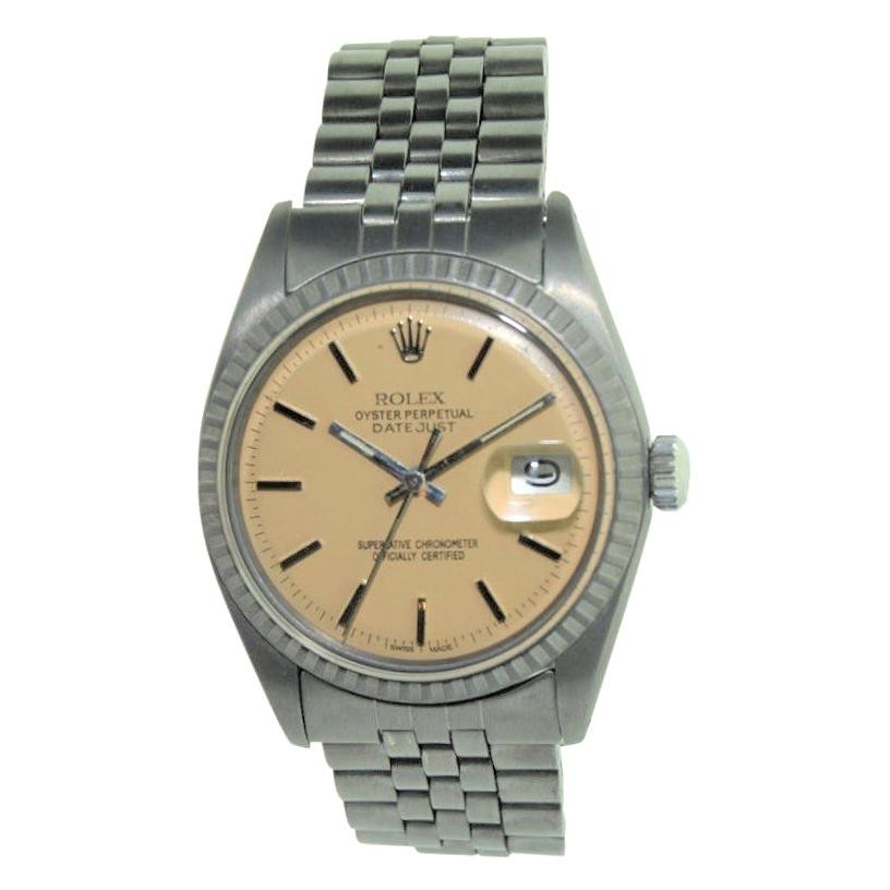 Rolex Stainless Steel Oyster Perpetual Datejust Ref 1601, Early 1970s