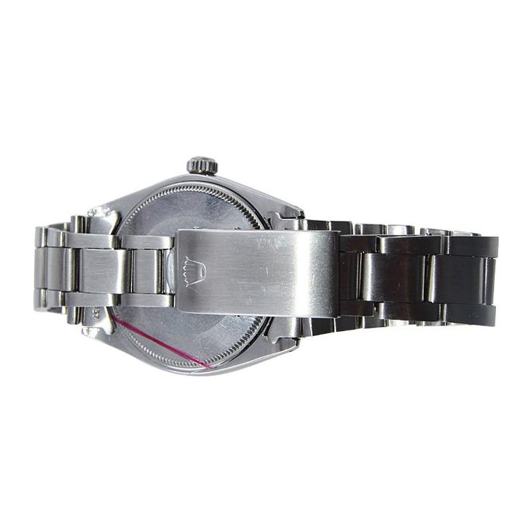 Rolex Stainless Steel Oyster Perpetual Original Patinated Dial from 1964/65 For Sale 4