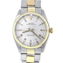 Rolex Stainless Steel Oyster Perpetual White Dial Automatic Wristwatch Ref 1005