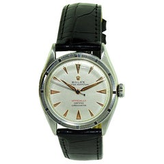Rolex Stainless Steel Oyster Perpetual Wristwatch from 1951 or 1952
