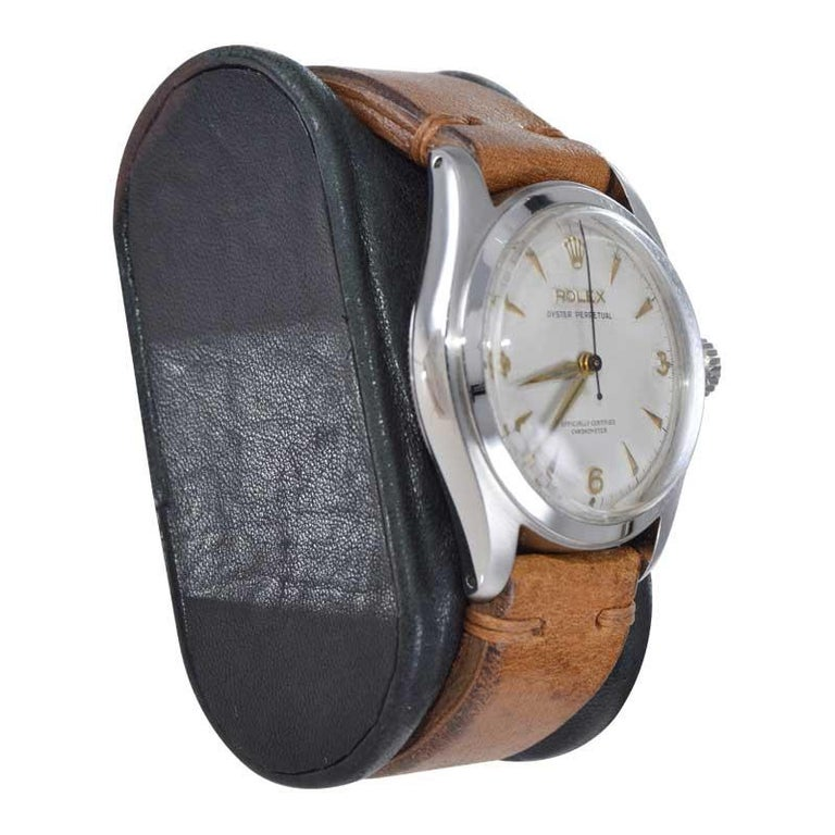 Rolex Stainless Steel Oyster Perpetual Wristwatch from 1952 For Sale 1