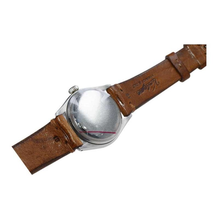 Rolex Stainless Steel Oyster Perpetual Wristwatch from 1952 For Sale 4