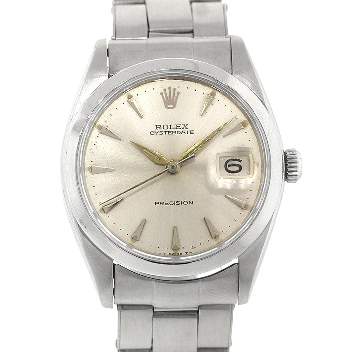 Rolex Stainless Steel Oysterdate Precision Automatic Wristwatch Ref 6694