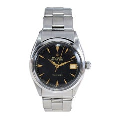 Rolex Stainless Steel Oysterdate Red and Black Date and Bracelet, from 1953