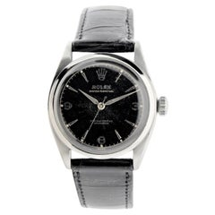 Rolex Stainless Steel Perpetual Original Dial Bubble Back Watch, 1953 / 1954