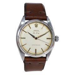 Rolex Stainless Steel Rare Early Air King with Original Patinated Dial Early 60s