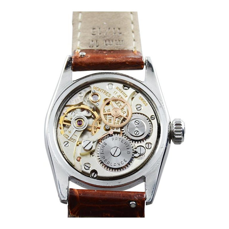 Rolex Stainless Steel Speedking Original Dial Manual Watch, circa 1952 For Sale 1