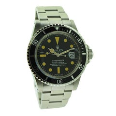 Rolex Stainless Steel Sub Mariner with Original Dial and Factory Service, 1978