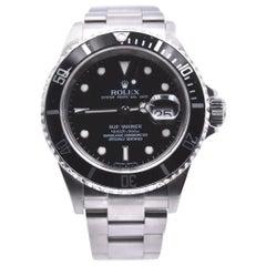 Rolex Stainless-Steel Submariner Black Dial Men's Watch Ref 16610