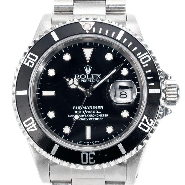 Rolex Stainless Steel Submariner Men's Wristwatch For Sale 3