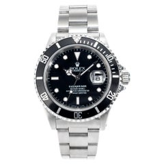 Rolex Stainless Steel Submariner Men's Wristwatch