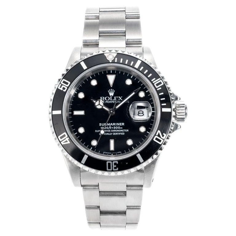 Rolex Stainless Steel Submariner Men's Wristwatch For Sale