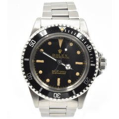 Rolex Stainless Steel Submariner Oyster Perpetual Vintage Automatic Wristwatch