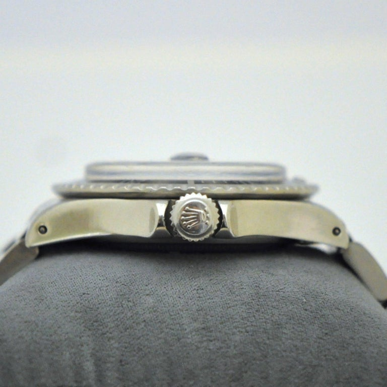Rolex Stainless Steel Submariner Oyster Perpetual Wristwatch, circa 1977 For Sale 3