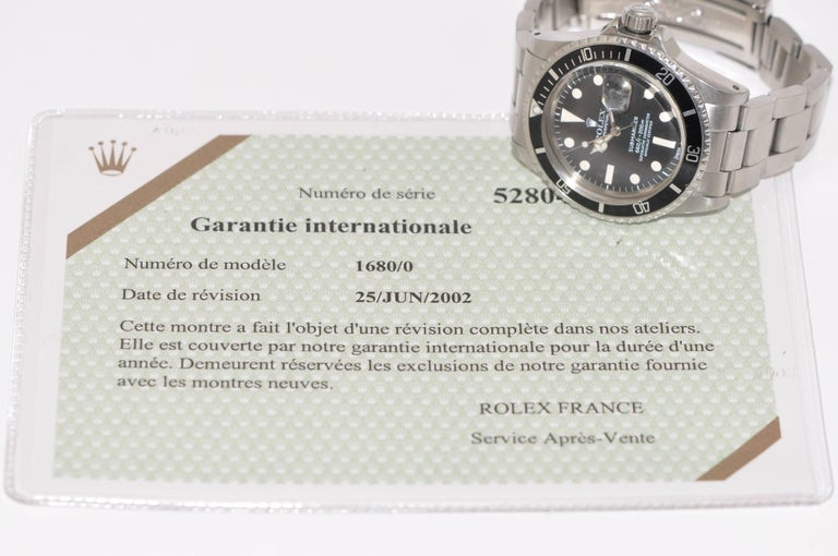 Rolex Stainless Steel Submariner Oyster Perpetual Wristwatch, circa 1977 For Sale 4