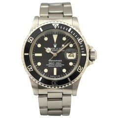 Rolex Stainless Steel Submariner Oyster Perpetual Wristwatch, circa 1977