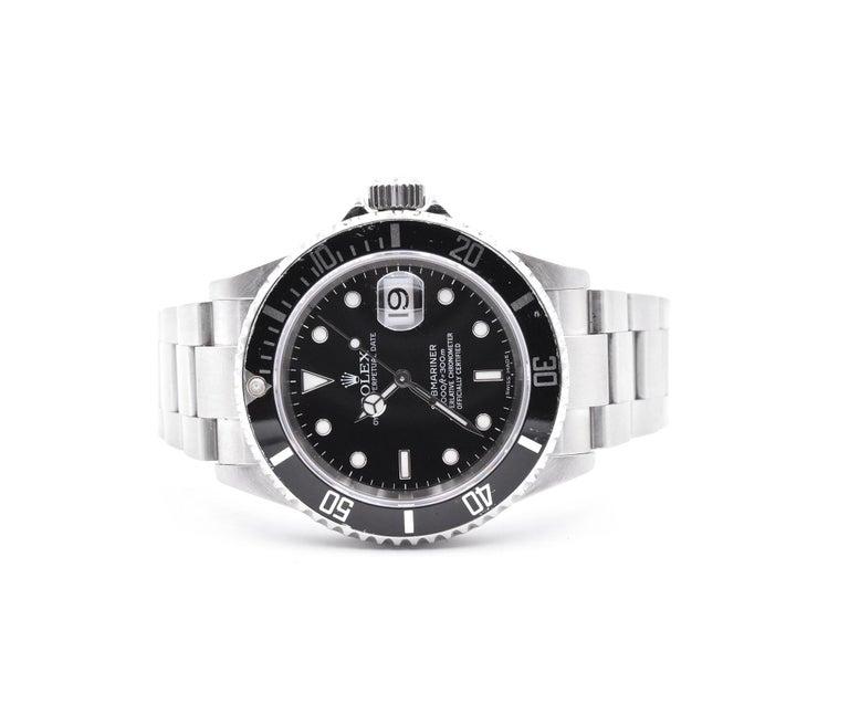 Rolex Stainless Steel Submariner Watch Ref. 16610 In Excellent Condition In Scottsdale, AZ