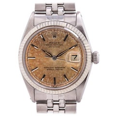 Rolex Stainless Steel Tropical Peach Dial Self-Winding Wristwatch 1601, c1962