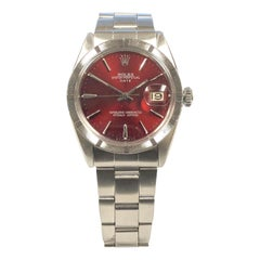 Rolex Stainless Steel Vintage Date Model Custom Color Dial Automatic Wristwatch