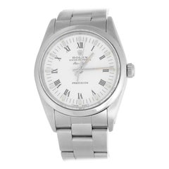 Rolex Stainless Steel White Dial Air-King Automatic Wristwatch Ref 14000