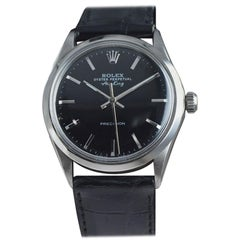 Rolex Stainless Steel Wristwatch from 1986 with Original Black Dial