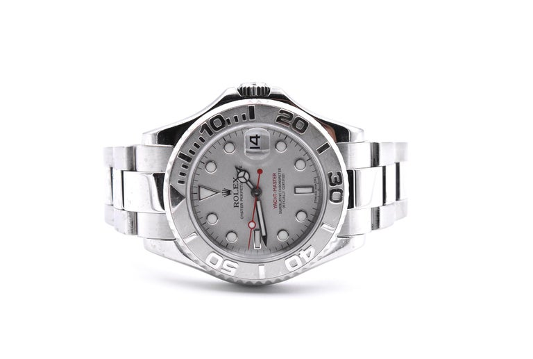 Rolex Stainless Steel Yacht-Master Midsize Watch Ref. 168622 In Excellent Condition For Sale In Scottsdale, AZ
