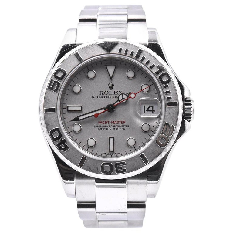 Rolex Stainless Steel Yacht-Master Midsize Watch Ref. 168622 For Sale