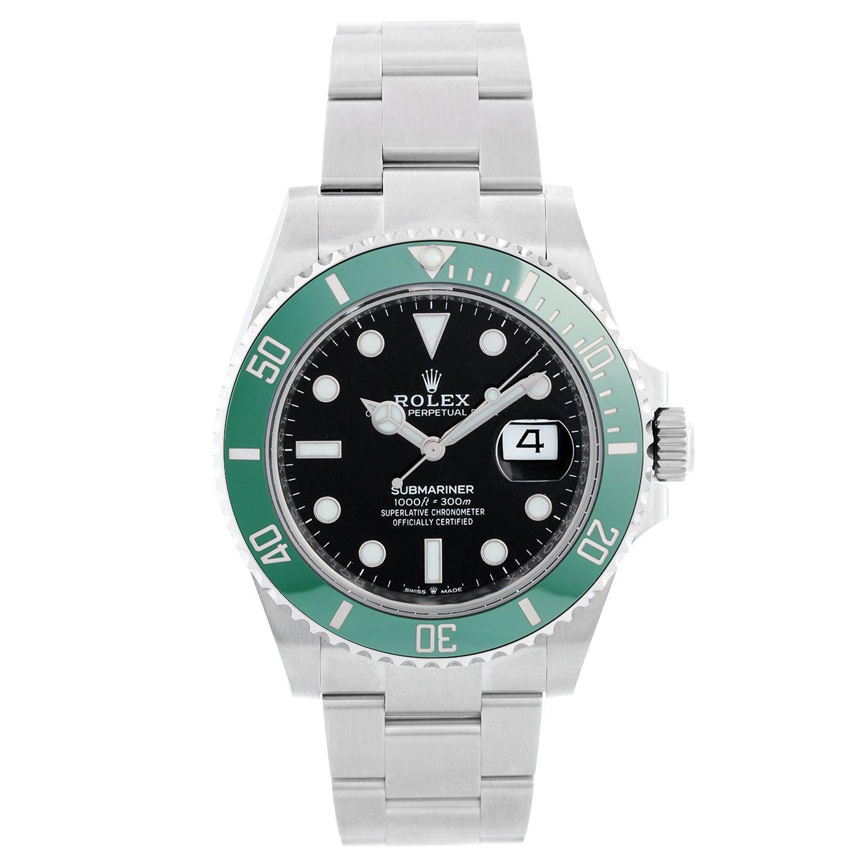 """Rolex """"Starbucks"""" Submariner Date Men's Stainless Steel Watch 126610LV"""