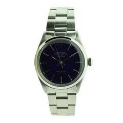 Rolex Steel Air King with Custom Blue Dial from 1968 or 1969