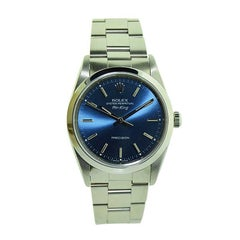 Rolex Steel Air King with Original Blue Dial, circa 1990s