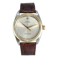 Rolex Steel and 14kt Gold Rare Zephyr Model with Original Dial from 1967 or 1968