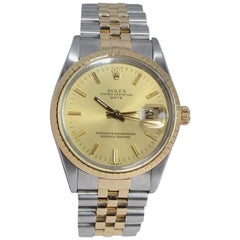 Rolex Steel and Gold Datejust with Original Bracelet, Box and Papers from 1985