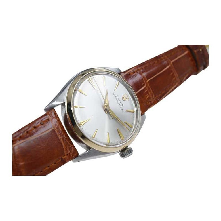 Rolex Steel and Gold with Original Dial Rare Model from Mid 1950s For Sale 2