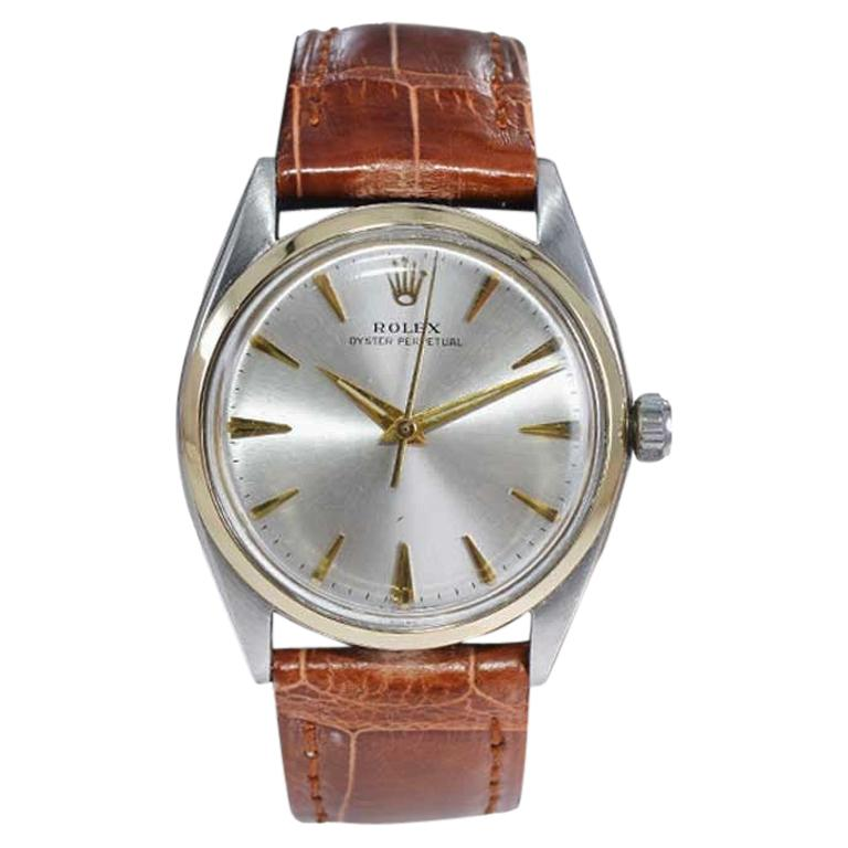 Rolex Steel and Gold with Original Dial Rare Model from Mid 1950s For Sale