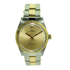 Rolex Steel and Gold Zephyr with Bracelet and Original Dial from 1969 or 1970