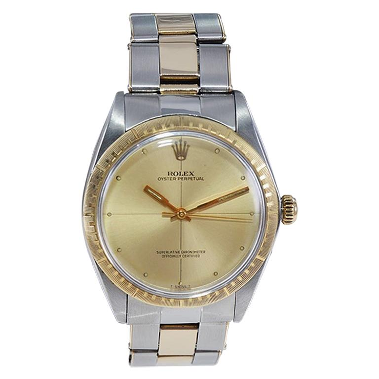 Rolex Steel and Gold Zephyr with Bracelet and Original Dial from Late 1960's