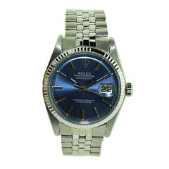 Rolex Steel Blue Dial Datejust Watch from 1971 or 1972