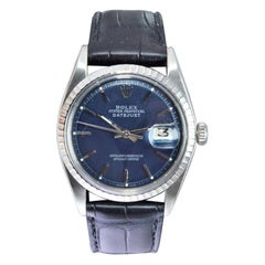 Rolex Steel Datejust with Custom Dark Blue Dial from 1972