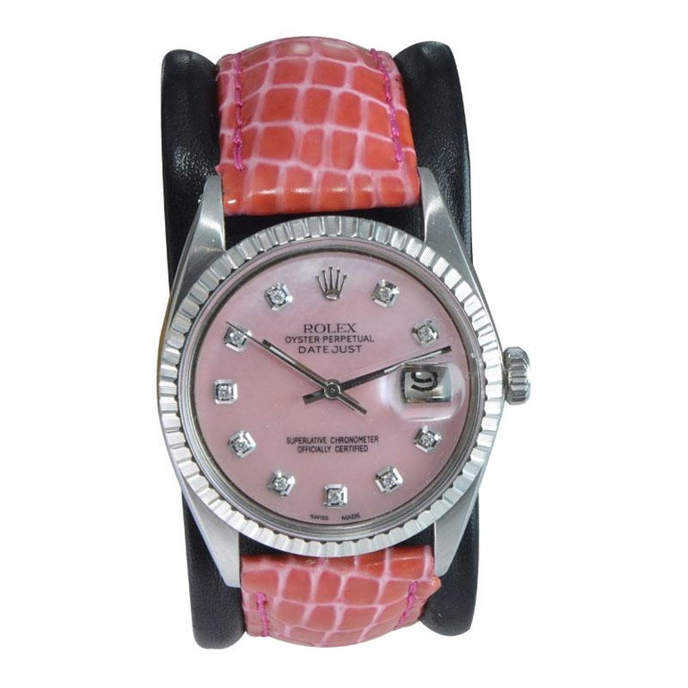 FACTORY / HOUSE: Rolex Watch Company STYLE / REFERENCE: Oyster Perpetual Datejust / Ref. 1601 METAL / MATERIAL: Stainless Steel CIRCA / YEAR: 1970 DIMENSIONS / SIZE: 43mm x 36mm MOVEMENT / CALIBER: Perpetual Winding / 26 Jewels / Cal. 1570 DIAL /