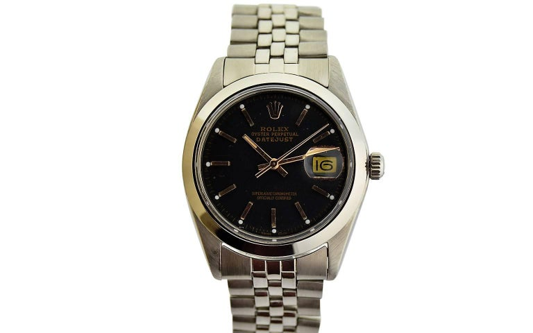 Rolex Steel Datejust with Jubilee Bracelet, circa 1977 In Excellent Condition For Sale In Venice, CA