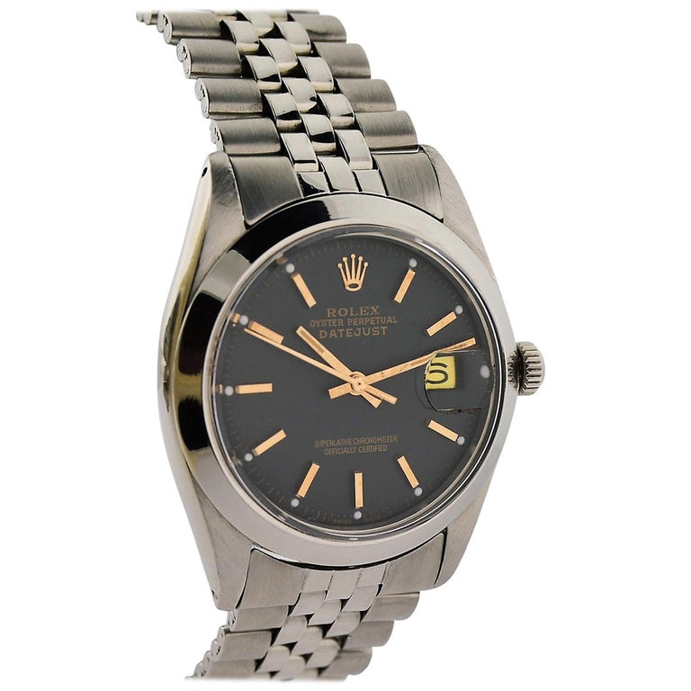 Rolex Steel Datejust with Jubilee Bracelet, circa 1977 For Sale