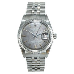 Rolex Steel Datejust with Rare Charcoal Linen Dial, circa 1970s