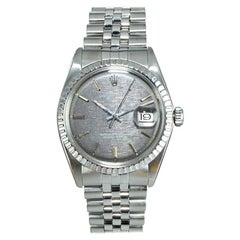 Rolex Steel Datejust with Rare Charcoal Linen Dial, circa 1972 or 73