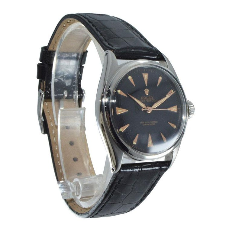 Rolex Steel Early Oyster with Original Super Oyster Crown from 1952-1953 For Sale 1