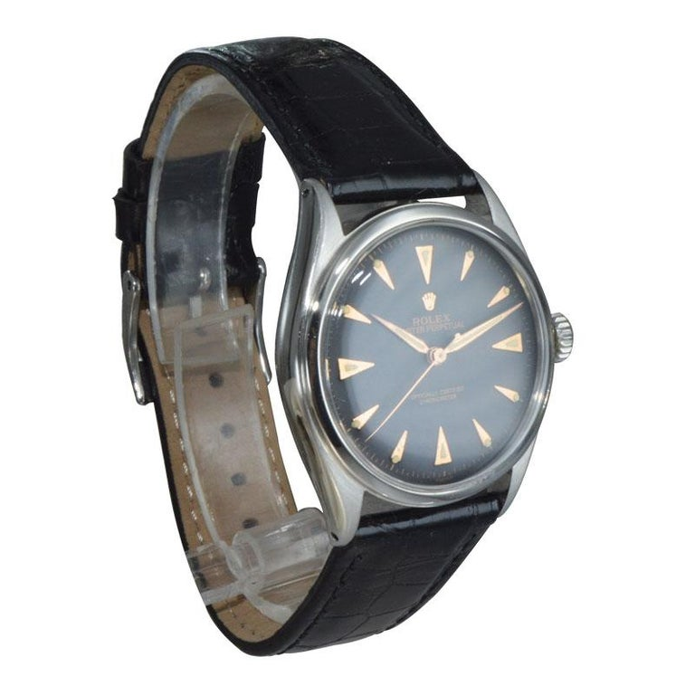 Rolex Steel Early Oyster with Original Super Oyster Crown from 1952-1953 For Sale 3