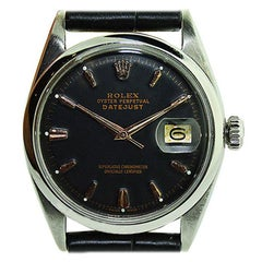 Rolex Steel Oyster Perpetual Datejust Carbonized, Late 1970's