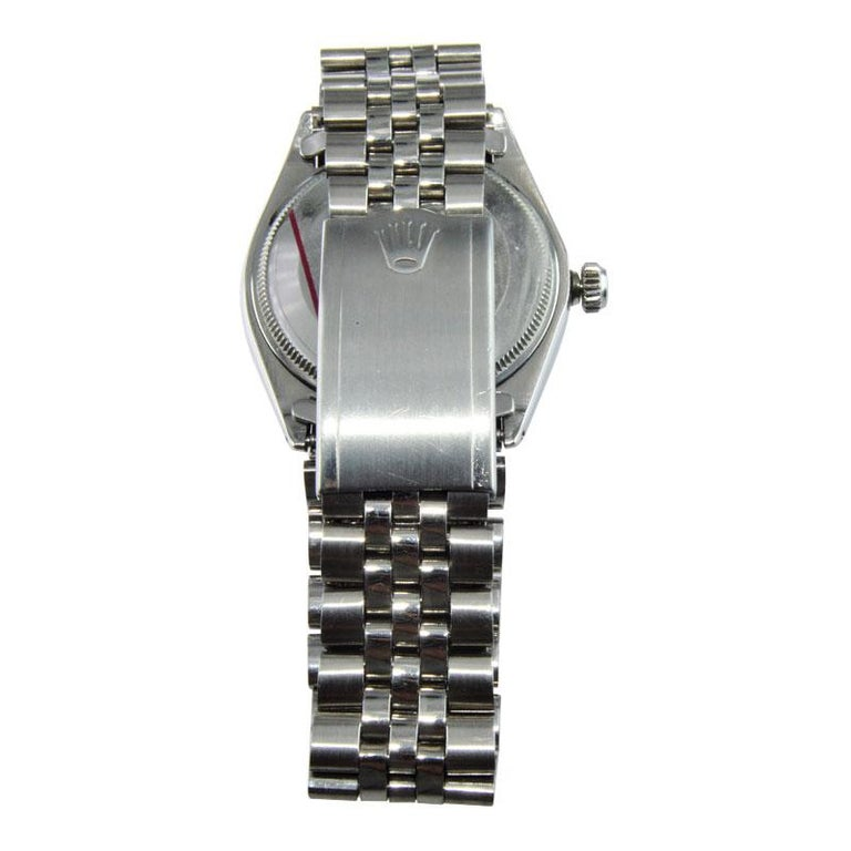 Rolex Steel Oyster Perpetual Air King Custom Purple Dial, From 1966 For Sale 3